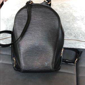 Louise Vuitton Epi Mabillon black backpack